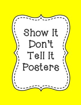 Show It Don't Tell It Posters in Primary Colors