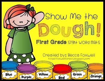 Show Me the Dough! {First Grade Sight Word Mats}
