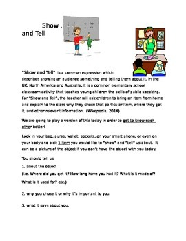 Show & Tell - Ice Breaker for All Ages