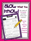 """Show What You Know!"" 36 3rd Grade Weekly Grammar Practice Pages"