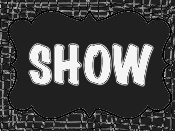 Show What You Know Bulletin Board Set Black & White Safari Jungle