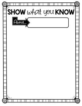 Show What You Know!! {Freebie}