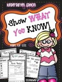 Show What You Know - the ULTIMATE CCSS Printable Pack (Kin