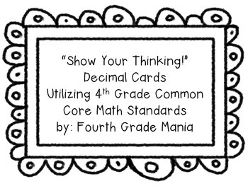 Show Your Thinking Decimal Review Questions
