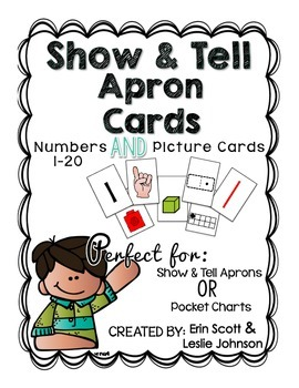 Show and Tell Apron Cards (Numbers 1-20 and picture cards)