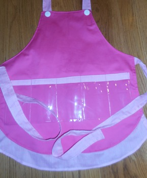 Show and Tell Apron (pink with pink pin stripes)
