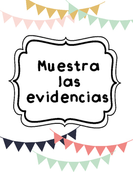 Show me the Evidence bookmarks in SPANISH