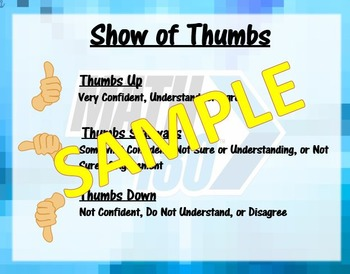 Show of Thumbs- Math 180 Classroom Routines
