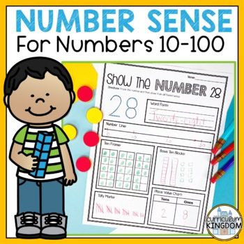 Show the Number 10 to 100 - Interactive Mats - Number of t