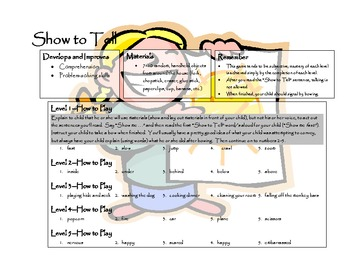 Show to Tell® from Cognitive Coaching Games series (brain