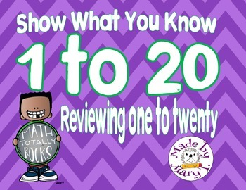 Show what you know 1 to 20