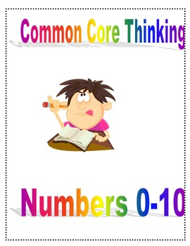 Show your thinking numbers 0-10 kindergarten style
