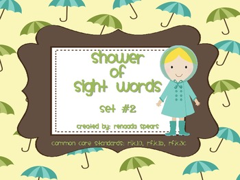 Shower of Sight Words Set #2