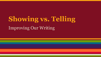 Showing vs. Telling PowerPoint and Guided Lesson