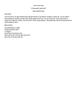 Shut Up and Sing Essay/ Dixie Chicks/ First AMendment