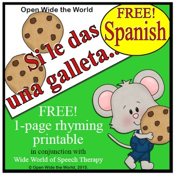 Si le das una galleta a un ratón - FREE Spanish Book Compa