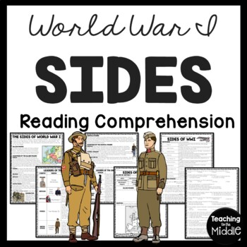 World War I- Sides- Allied vs. Central Powers Reading Comp