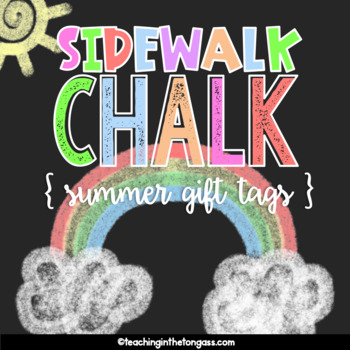 Sidewalk Chalk Tags Free