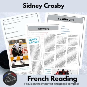 Sidney Crosby - reading activity packet - passé composé vs