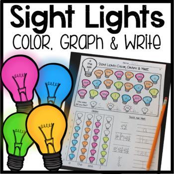 Sight Word Graphing BUNDLE! (Pre-Primer, Primer, First Gra
