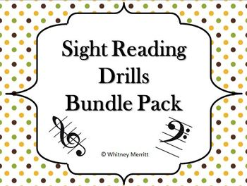 Sight Reading Drill Cards Bundle Pack! Save 10%!
