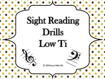 Sight Reading Drill Cards - Low Ti