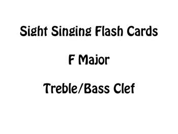 Sight Singing Flash Cards- F Major