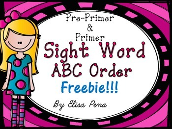 Sight Word ABC Order- Freebie!