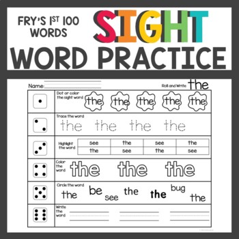 #merrymonday Fry's First 100 Sight Words Activities