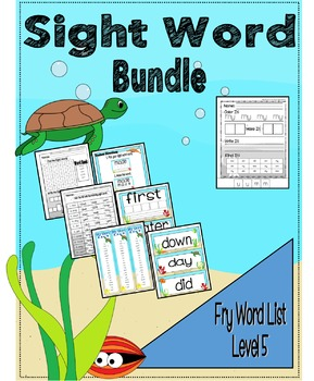 Sight Word Activity Bundle - Fry Word List 81 - 100