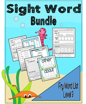 Sight Word Activity Bundle - Fry Word List 41 - 60
