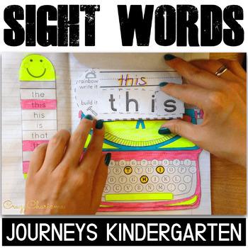 Sight Word Activities: Interactive Notebook (Journeys List