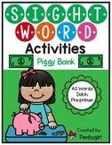 Sight Word Activities Piggy Bank $2 off 48 hrs