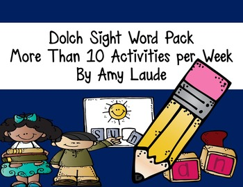 Dolch Sight Word Activities-AT LEAST 10 for each set! Pre-