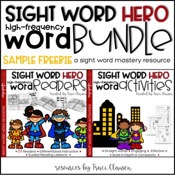 Sight Word Activities and Readers BUNDLE SAMPLE FREEBIE