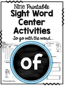 Sight Word Activities for the word {of}