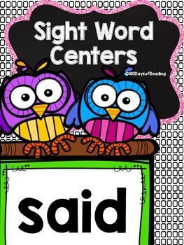 Sight Word Activities for the word {said}