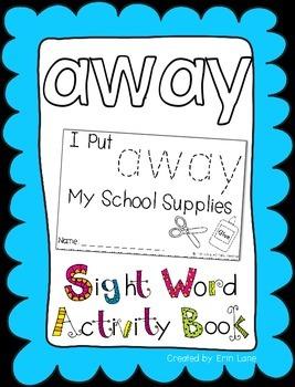 "Sight Word Activity Book: ""Away"""