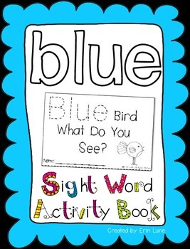 "Sight Word Activity Book: ""Blue"""