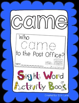 """Sight Word Activity Book: """"Came"""""""