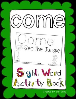 "Sight Word Activity Book: ""Come"""
