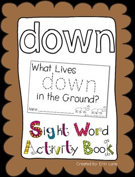 """Sight Word Activity Book: """"Down"""""""