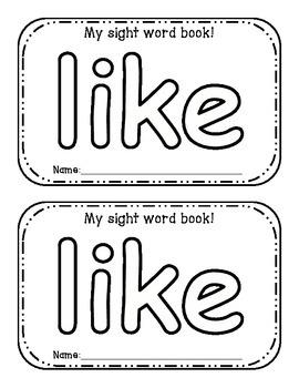 Sight Word Interactive Activity Books: Unit 1;  4 books!!