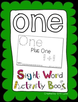 """Sight Word Activity Book: """"One"""""""