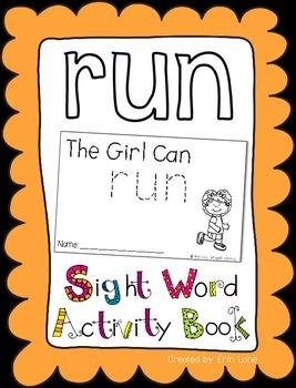 "Sight Word Activity Book: ""Run"""