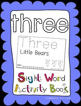 "Sight Word Activity Book: ""Three"""