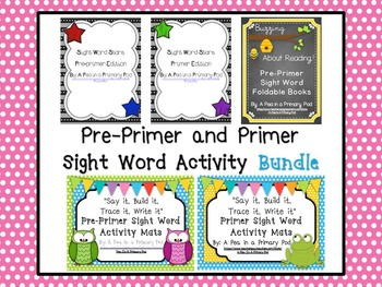 Sight Word Activity Bundle (Pre-Primer and Primer)