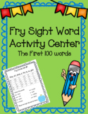 Sight Word Activity Center First 100