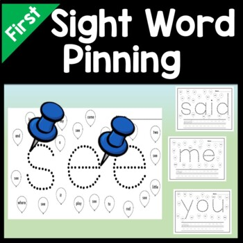 Sight Words First Grade with Pins and Paper {41 words}