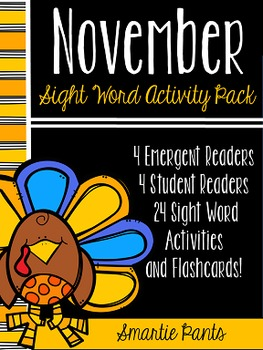 Sight Word Activity Pack - November